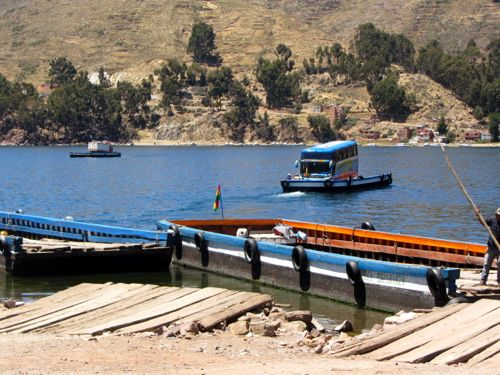Bus on a raft