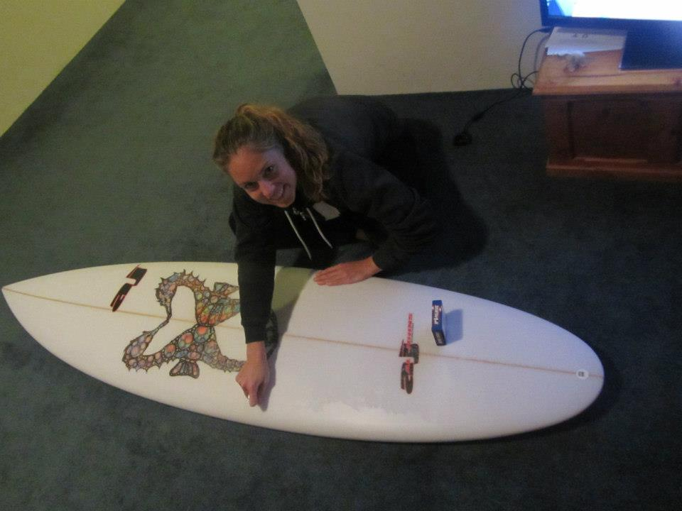 Waxing my board