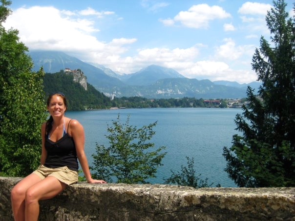That's Bled Castle in the background.