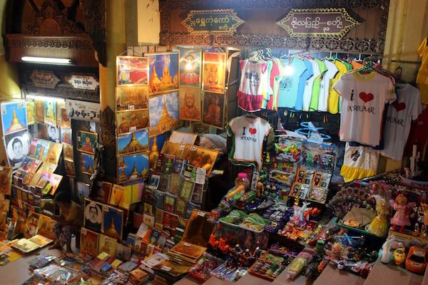 Souvenir stall Shwedagon