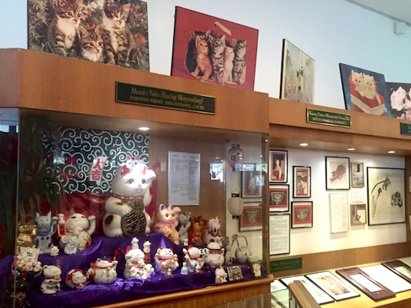 Cat Museum Kuching beckoning cats