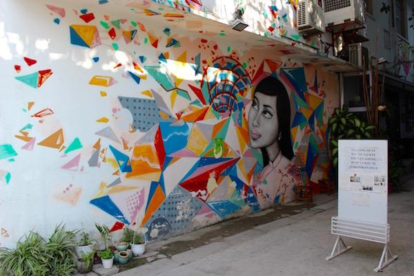 Street art Ho Chi Minh City Vietnam