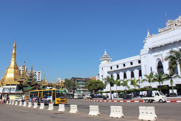Downtown Yangon Myanmar
