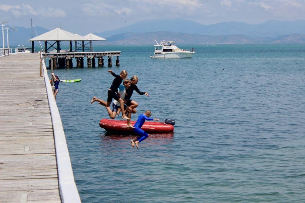 jump off pier