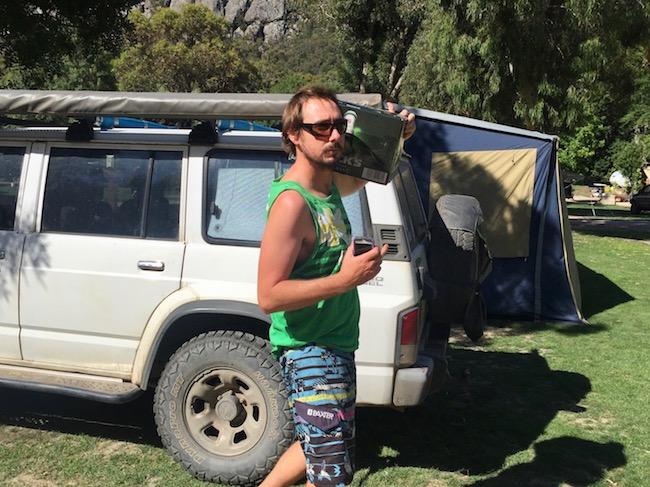 Camping beer run