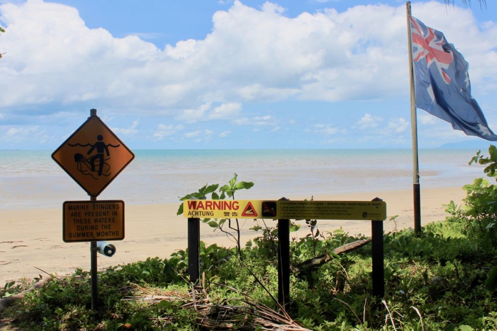 Dangerous beach