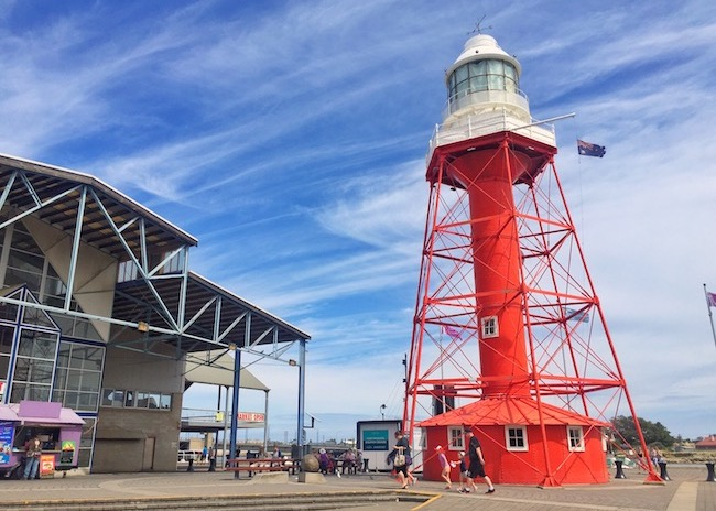 Red lighthouse adelaide