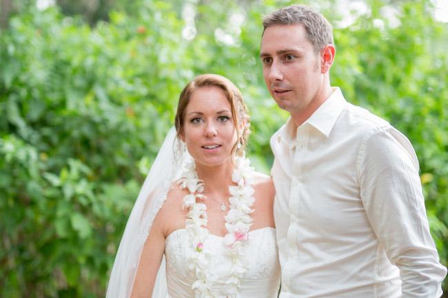 wedding couple surprised
