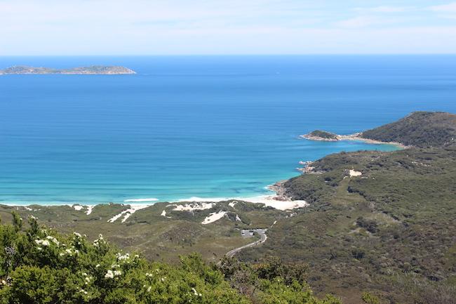 White beach blue sea