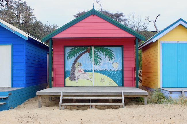 Pink beach box