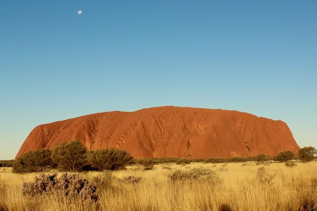Uluru sunset begins