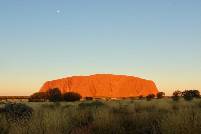 Uluru glows