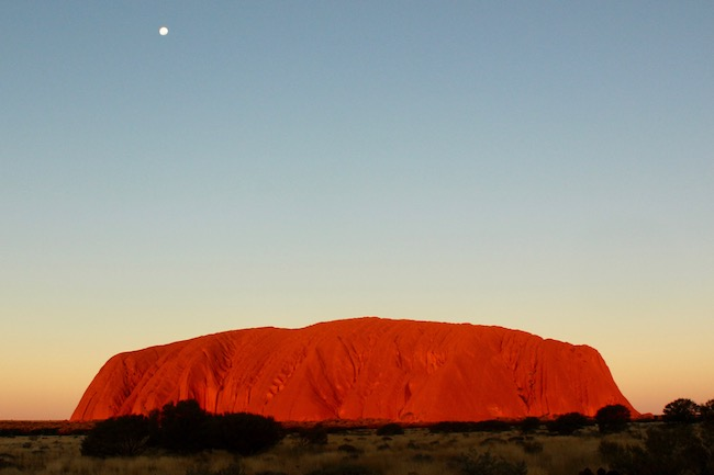 Uluru Ayers Rock sunset