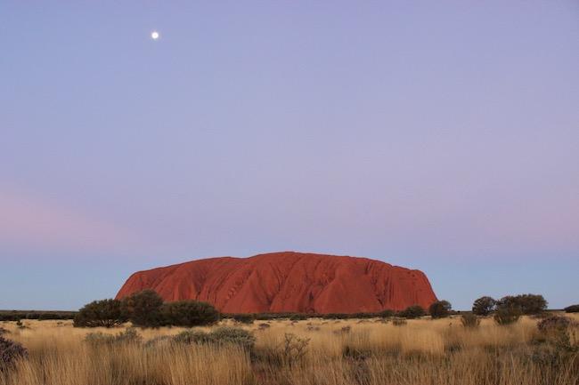 Sunset change Uluru