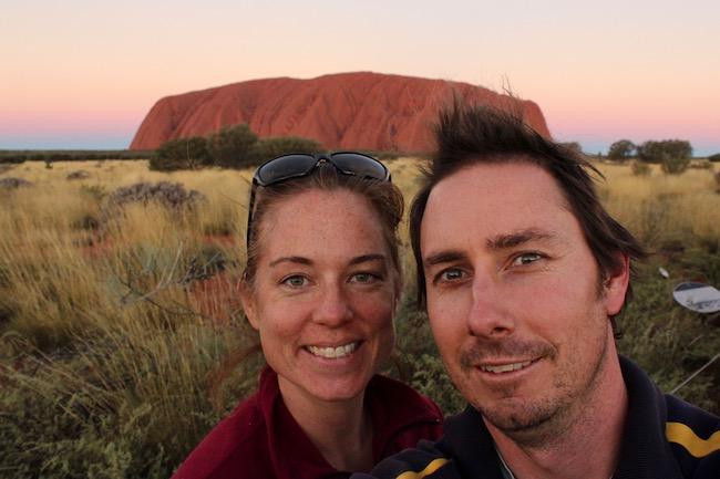 Couple selfie Uluru