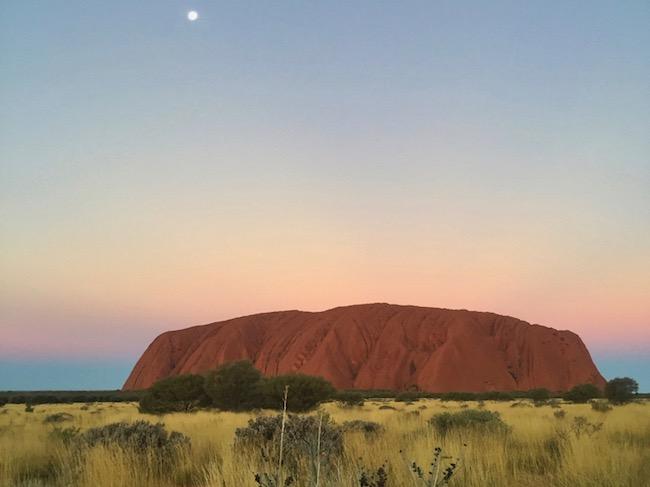 Uluru sunset Ayres Rock