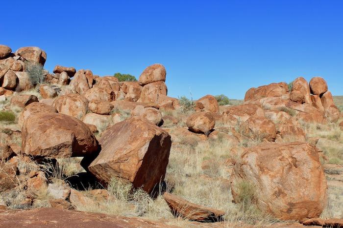 Scattered boulders
