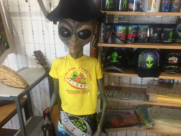 Alien wearing clothes