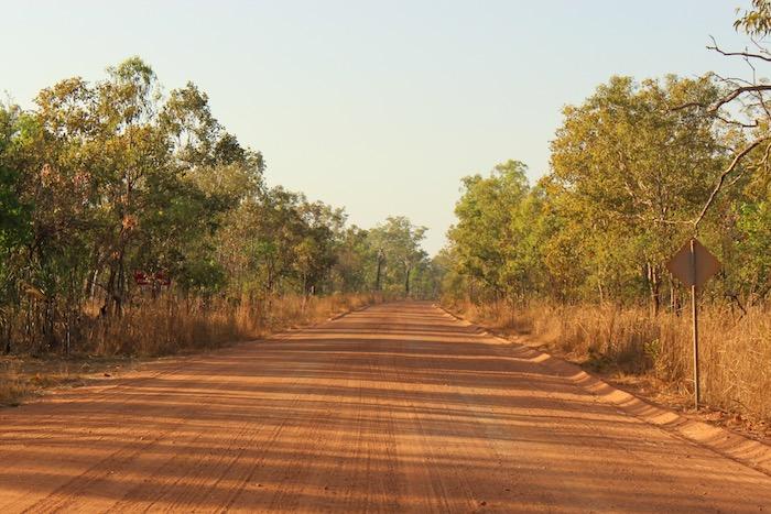 Dirt road to Jim Jim Falls in Kakadu National Park