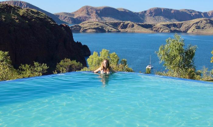 Lake Argyle infinity pool blue
