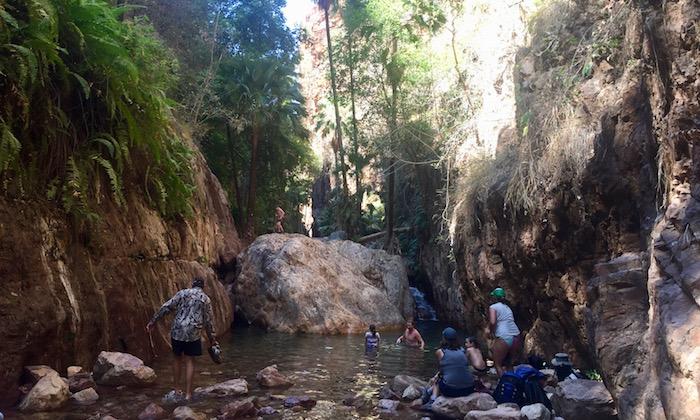 El Questro gorge halfway point