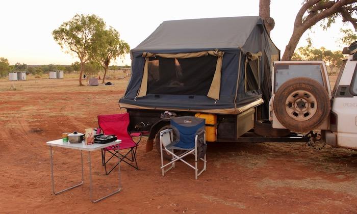 Camper trailer set up