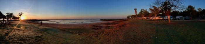 Sunrise from Roebuck Bay Caravan Park