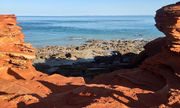 rocky shelf Gantheaume Broome