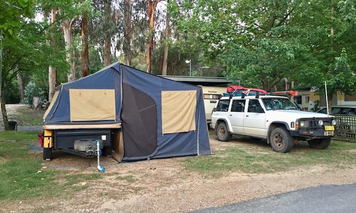 Camper trailer and Nissan Patrol